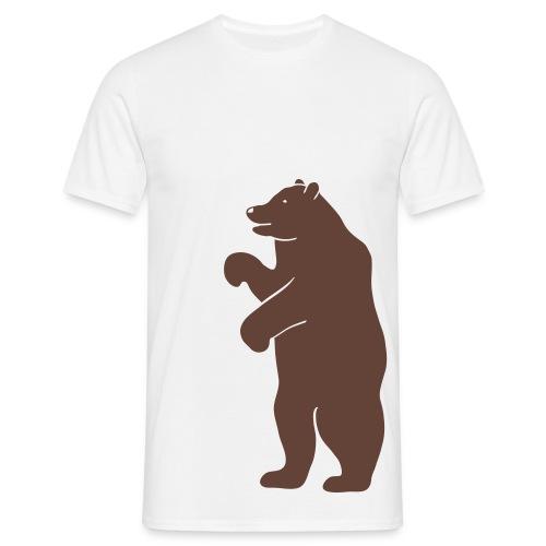t-shirt bär bärig bärchen bear beer teddy berlin bärenstark liebling pelz tier wild jagd jäger - Männer T-Shirt