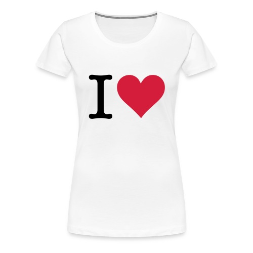 i heart... - Women's Premium T-Shirt