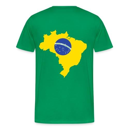 Brazil map t-shirt - Men's Premium T-Shirt