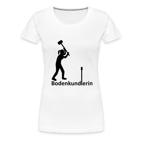 T-Shirt Bodenkundlerin, Pürckhauer, front, black - Frauen Premium T-Shirt