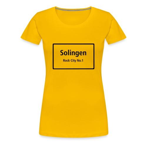 Solingen Rock City No.1 - T-Shirt Frauen - Frauen Premium T-Shirt