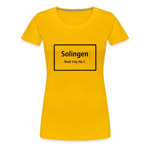 Solingen Rock City No.1 - T-Shirt Frauen - Frauen Premium T-Shirt