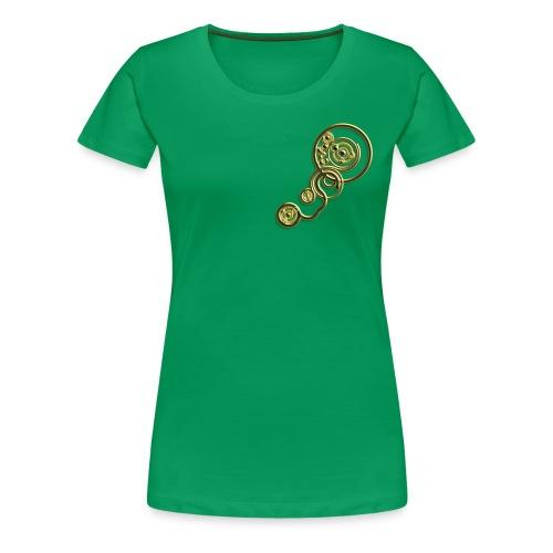 [Women's] Clockwork - GOLD - Women's Premium T-Shirt