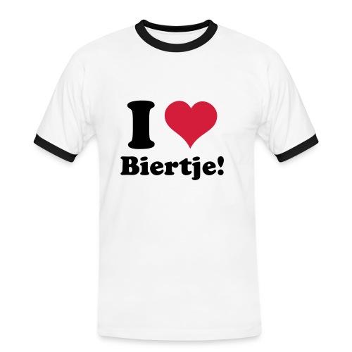 I Love Biertje! - Mannen contrastshirt