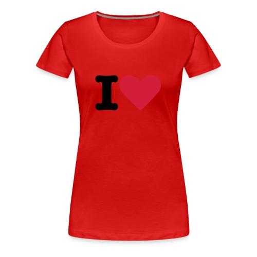 Test I Love ! - T-shirt Premium Femme