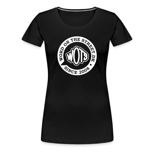 Ladies Love Black on White - Dame premium T-shirt