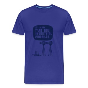 WINDMILLS (light blue) - Men's Premium T-Shirt