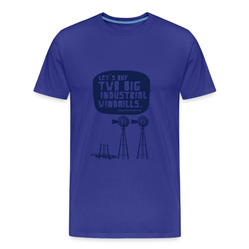 WINDMILLS (light blue) - Men's Premium T-Shirt