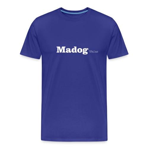 Madog Wales white text - Men's Premium T-Shirt
