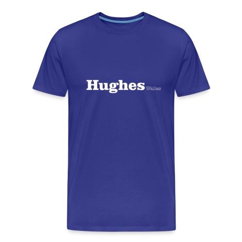 Hughes Wales white text - Men's Premium T-Shirt