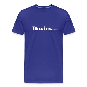 Davies Wales white text - Men's Premium T-Shirt