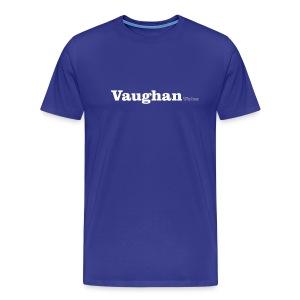 Vaughan Wales white text - Men's Premium T-Shirt