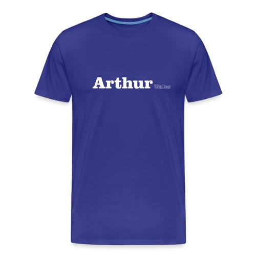 Arthur Wales white text - Men's Premium T-Shirt