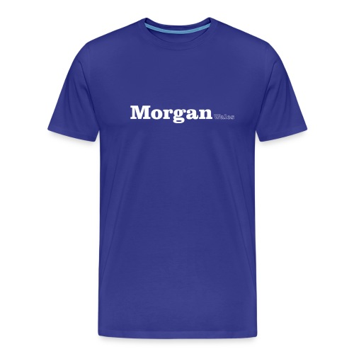 Morgan Wales white text - Men's Premium T-Shirt