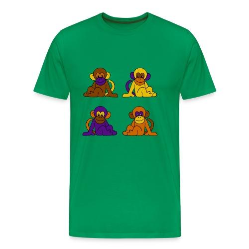 vier Monkeys - Männer Premium T-Shirt