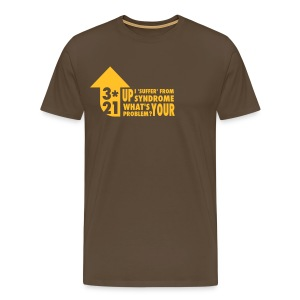 Mens T-shirt 3*21 Up Syndrome Noble Brown/Gold - Men's Premium T-Shirt