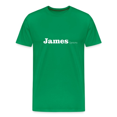 James Cymru white text - Men's Premium T-Shirt