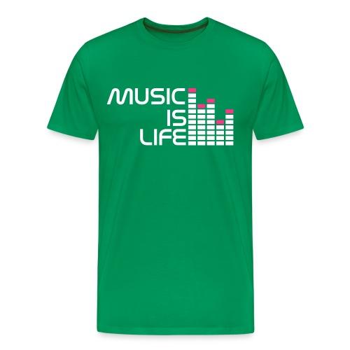 Music Is Life - Männer Premium T-Shirt