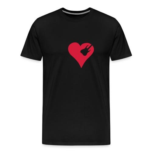 XXXL_T-Shirt Herz mit Gitarre - Männer Premium T-Shirt