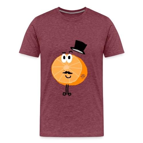 Orange Sir Jefferson - Männer Premium T-Shirt