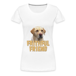 Yellow lab faithful friend plus size t-shirt - Women's Premium T-Shirt