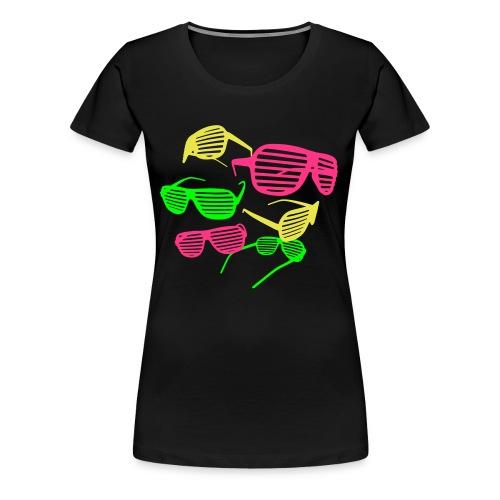 XXXL Tshirt mit Brillen - Frauen Premium T-Shirt