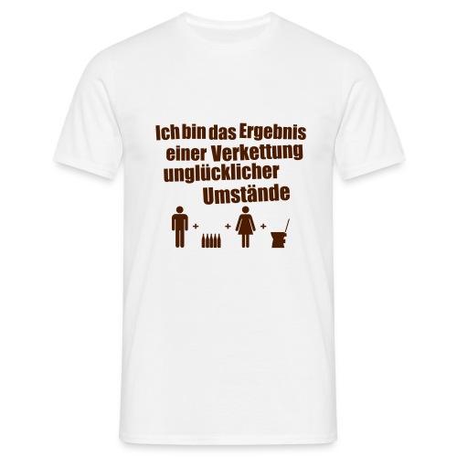 Ergebnis einer Verkettung - Männer T-Shirt