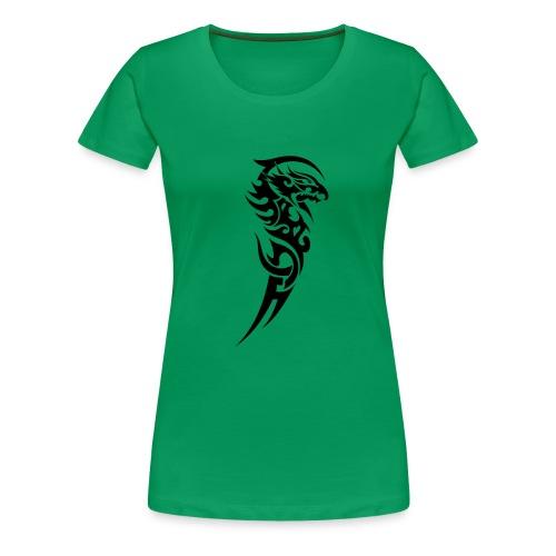 XXXL Tshirt mit Dragon(2) - Frauen Premium T-Shirt