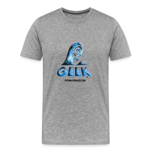 Geek wave gris bleu - T-shirt Premium Homme