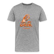 Tee shirts ~ T-shirt Premium Homme ~ Geek wave gris orange