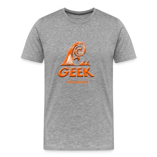 Geek wave gris orange - T-shirt Premium Homme