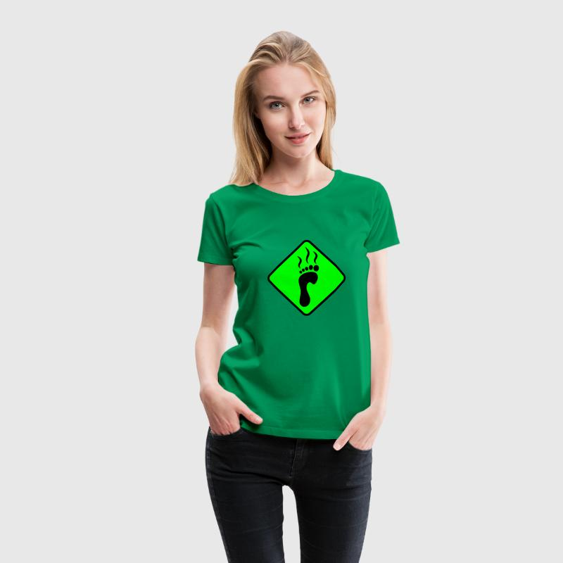 Achtung Fussgeruch | Attention Foot smell | Fuss | Foot T-Shirts - Frauen Premium T-Shirt