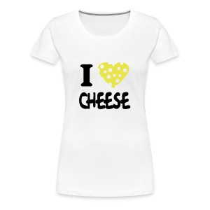 i love cheese skinny fit  - Women's Premium T-Shirt