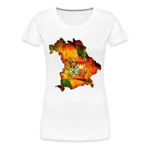 Bayernkarte - Frauen Premium T-Shirt