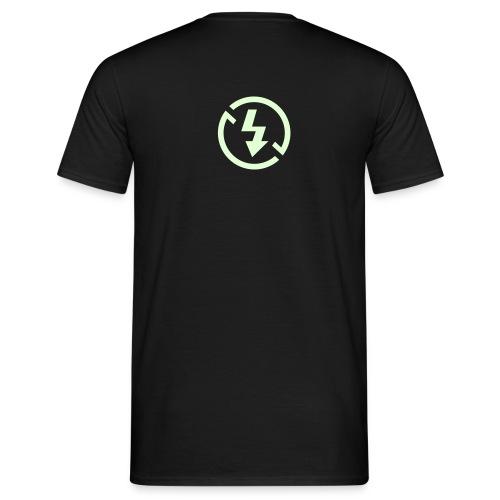noflash (glow) - Männer T-Shirt