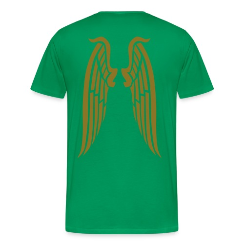 Ayresome Angel - Gold wings - Men's Premium T-Shirt