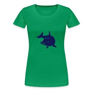 t-shirt delphin delfin dolphin wal orka orca flipper - Frauen Premium T-Shirt