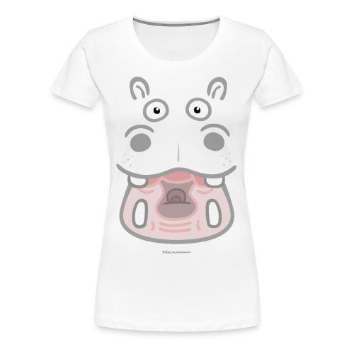 HIPPO Weiß Girls - Frauen Premium T-Shirt