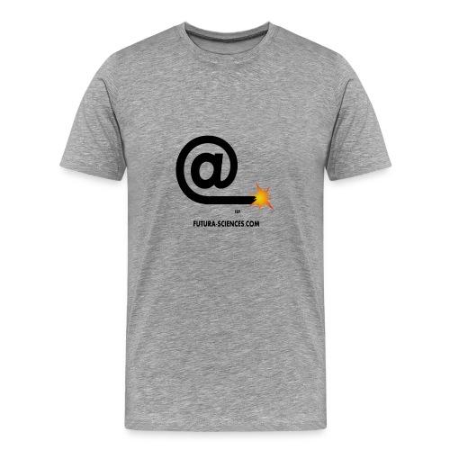 Arobase etincelle gris - T-shirt Premium Homme