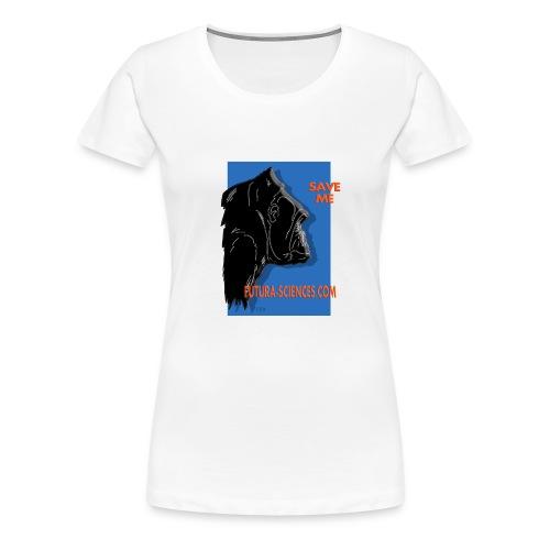 Save gorille femme blanc - T-shirt Premium Femme
