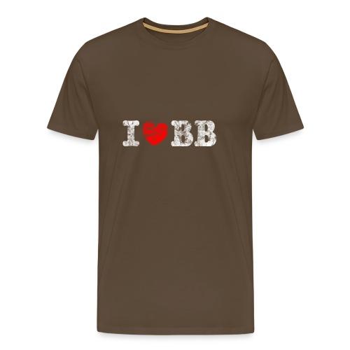 I love Basketball, Vintage, Used Look - Männer Premium T-Shirt