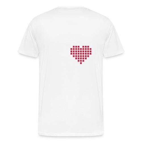 pixel heart men - Men's Premium T-Shirt