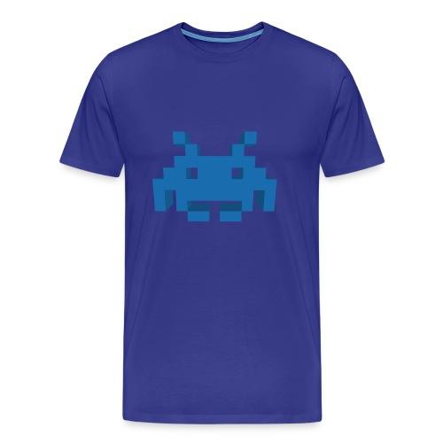 Retro 3D Space Invader - Men's Premium T-Shirt