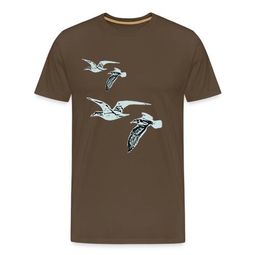 Fri som fuglen, blå, klassisk tee - Men's Premium T-Shirt