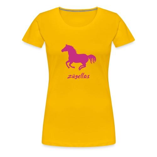 Shirt Pferd Pony Horse wild wildpferd Reiter Reiterin Warmblut Kaltblut Reiten mustang  wildfang tiershirt shirt tiermotiv - Frauen Premium T-Shirt