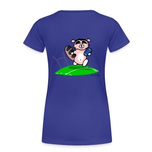 Amazoon la Racoon Special Rugbygirl (Dos) - T-shirt Premium Femme