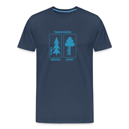 Shirt Wald Baum Bäume Treehugging Natur Treehugger tree hugger Umwelt Umweltschutz - Männer Premium T-Shirt