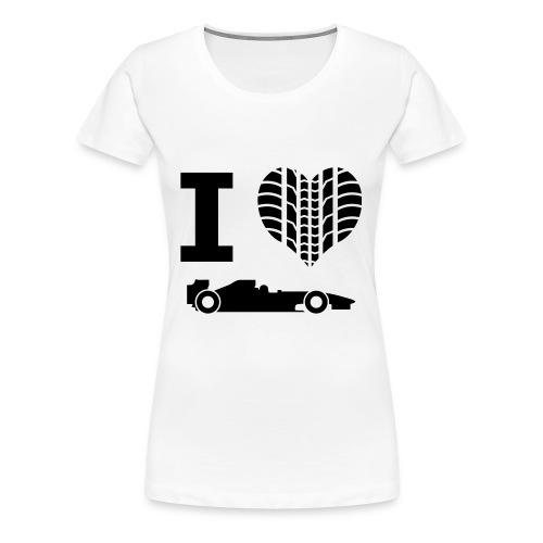 I love Formule 1 Tee Shirt (Femme) - T-shirt Premium Femme
