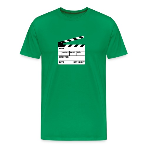 Writable Clapper Board T-Shirt - Men's Premium T-Shirt