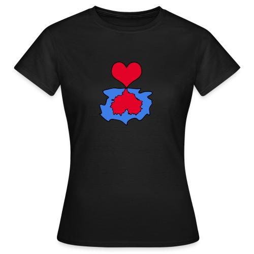 spiegelndes Herz - Frauen T-Shirt